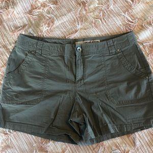 DKNY Shorts, olive green / gray